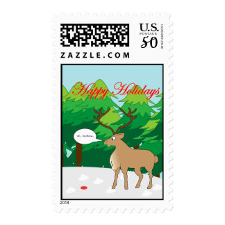 rudolph lost his nose postage