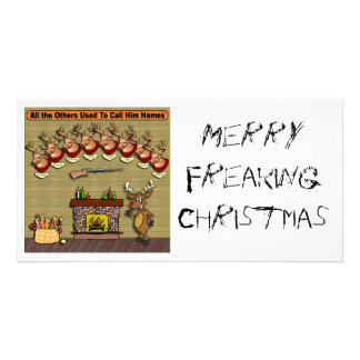 Rudolph MerryFreakingChristmas Photo Cards
