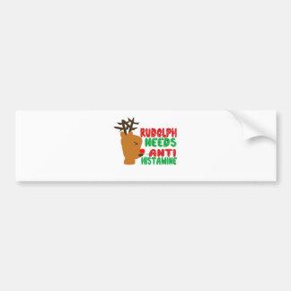 Rudolph necesita la histamina anti pegatina para auto