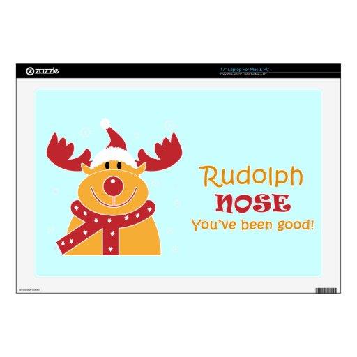 Rudolph Nose... Laptop Decal