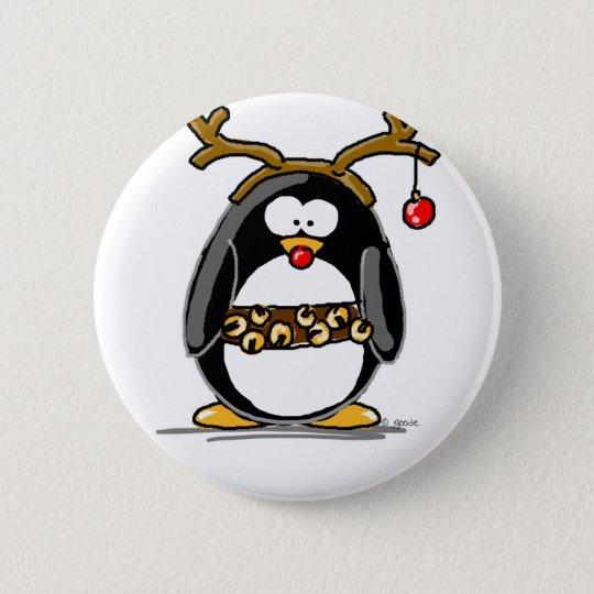 Rudolph penguin button