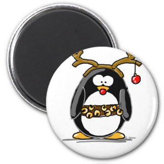 Rudolph penguin fridge magnets