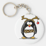 Rudolph penguin key chains
