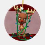Rudolph que el navidad sospechado rojo del reno ad ornamento de navidad