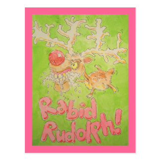 Rudolph rabioso tarjetas postales