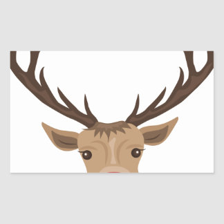 Rudolph Rectangular Sticker
