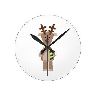 Rudolph Reindeer Wall Clock