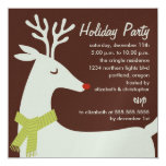 Rudolph Reindeer Holiday Party Invitations