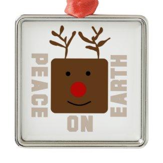 Rudolph Reindeer Peace on Earth Ornament ornament