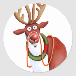 Rudolph Reindeer Stickers