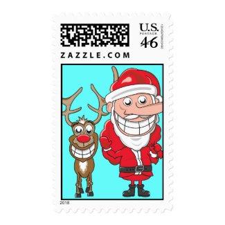 Rudolph Santa Stamps