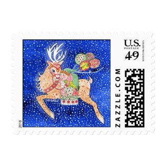 Rudolph & Santa's Helper Postage