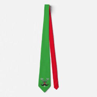 Rudolph sospechado rojo con el bigote + su idea corbata