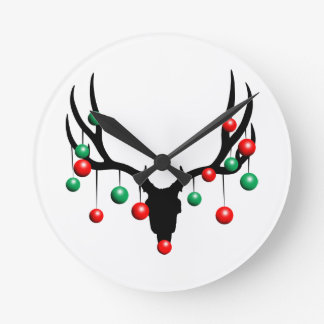 Rudolph the Dead Nosed Reindeer Round Clock