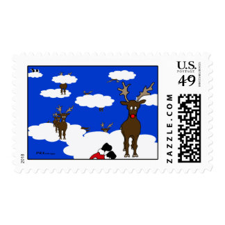 Rudolph The Great Leader Christmas Postage Stamp