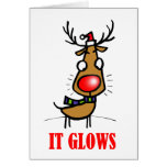 RUDOLPH THE RED NOSE REINDEER CARD