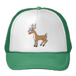 Rudolph The Red Nose Reindeer Christmas T Shirt Mesh Hats