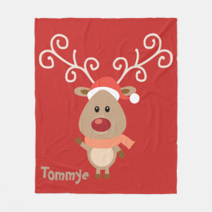 Make Your Own Rudolph Blanket - Bundle Up In Yours Today!  6b84c2e38