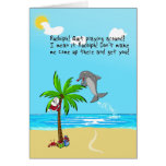 Rudolph the Red-Nosed Dolphin Greeting Cards