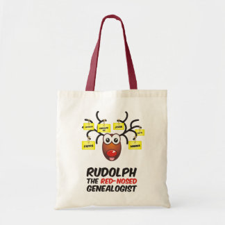 Rudolph The Red-Nosed Genealogist Bags