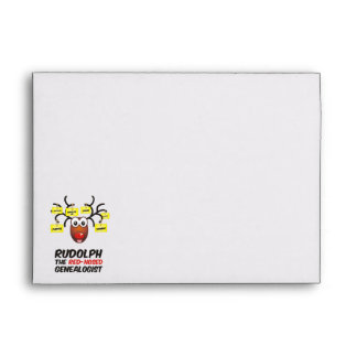 Rudolph The Red-Nosed Genealogist Envelope