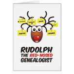 Rudolph The Red-Nosed Genealogist Greeting Cards