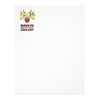 Rudolph The Red-Nosed Genealogist Letterhead