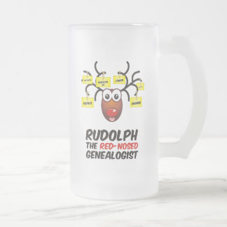 Rudolph The Red-Nosed Genealogist Mug