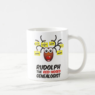 Rudolph The Red-Nosed Genealogist Mugs