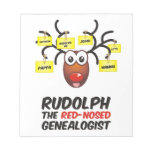 Rudolph The Red-Nosed Genealogist Note Pads