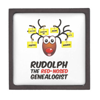 Rudolph The Red-Nosed Genealogist Premium Trinket Box