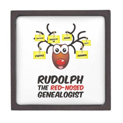 Rudolph The Red-Nosed Genealogist Premium Trinket Box