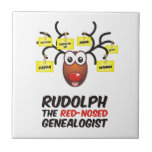 Rudolph The Red-Nosed Genealogist Tiles