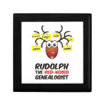Rudolph The Red-Nosed Genealogist Trinket Boxes
