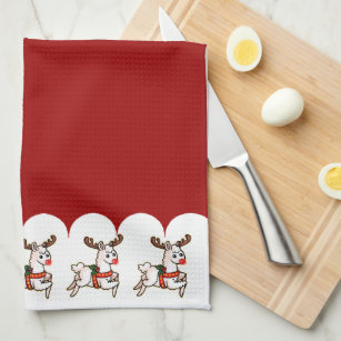 Funny Xmas Kitchen Hand Towels Zazzle