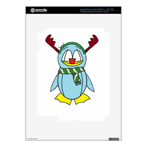 Rudolph the Red Nosed Penguin iPad 3 Decals