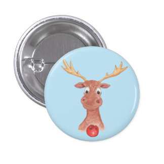 Rudolph the Red Nosed Reindeer Button Badge