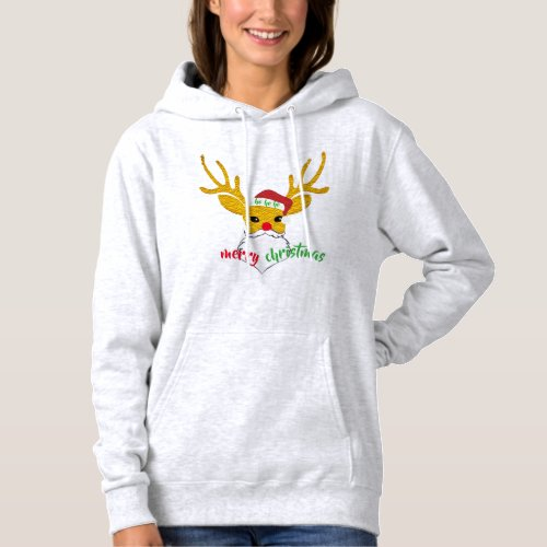 rudolph the red-nosed reindeer santa funny hoodie After Christmas Sales 5892