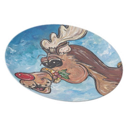 Rudolph the Rednose Reindeer Party Plates