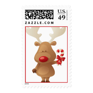Rudolph the Reindeer Christmas Holiday Postage