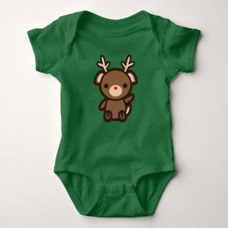 Rudolph the Reindeer Kawaii Christmas Holiday Baby Baby Bodysuit