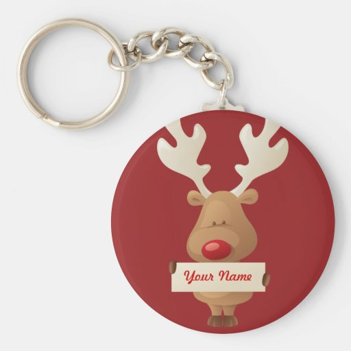 Rudolph the reindeer Keychain