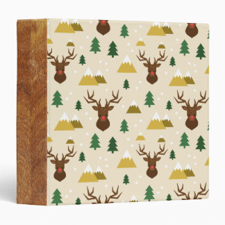 Rudolph the Reindeer Pine Trees and Mountains Binder