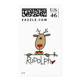 Rudolph the Reindeer T-shirts and Gifts stamp