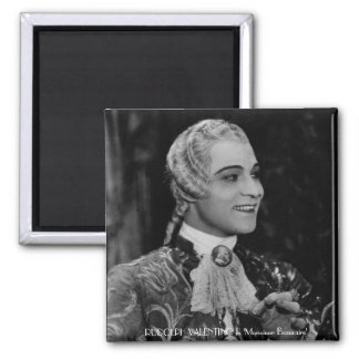Rudolph Valentino 2 Inch Square Magnet