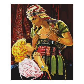 Rudolph Valentino as The Son of the Sheik 1925 Print