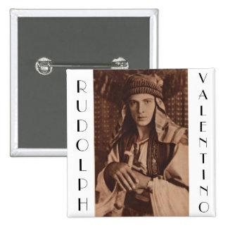 Rudolph Valentino como el jeque Pin Cuadrada 5 Cm