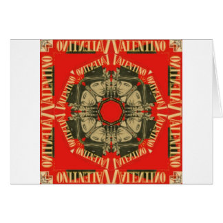 Rudolph Valentino Design 1 Greeting Card