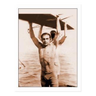 Rudolph Valentino en bañador Postales