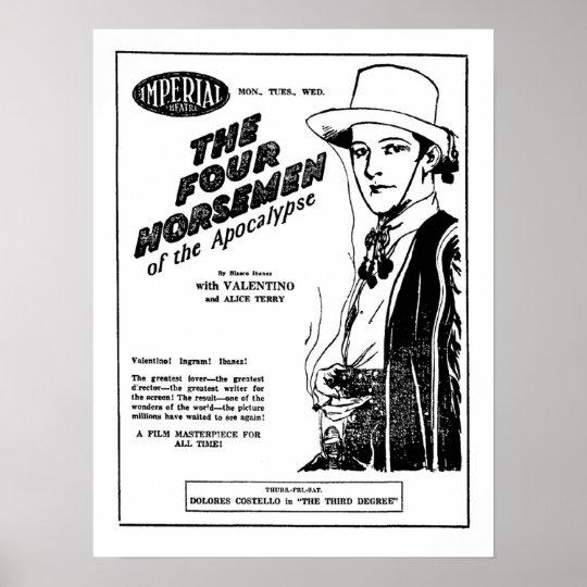 Rudolph Valentino Four Horsemen of Apocalypse ad Poster